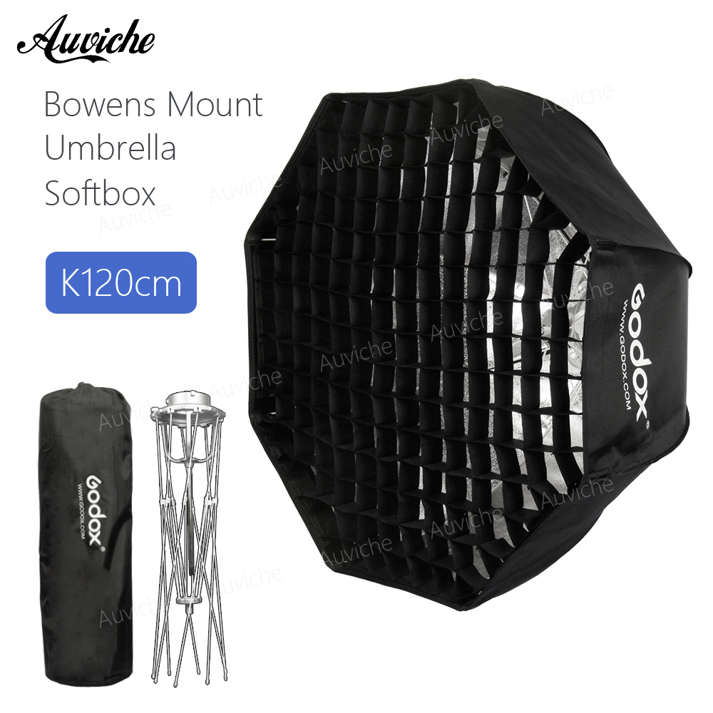 Godox 120cm Bowens Mount Octagon Honeycomb Grid Umbrella Softbox soft box with Bowens Mount for Bowens Mount Studio Flash Light