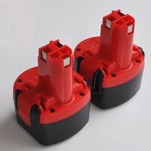 2 pcs 9.6 v Ni-MH bateria recarregável pack 3000 mah para BOSCH broca chave de fenda Elétrica sem fio celular BAT001, BAT048, BAT049