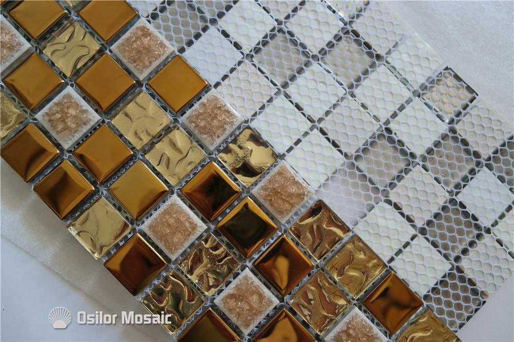 Trasporto libero di ceramica mattonelle di mosaico oro mosaico di
