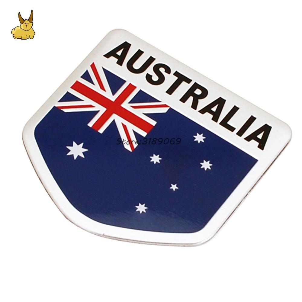 Алюминиевый сплав Австралийский флаг эмблема Наклейки для автомобиля Авто Знак наклейки для VW Гольф Холден Колорадо Mazda CX-5 Toyota Camry RAV4