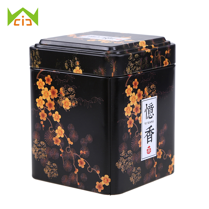 WCIC Tea Caddies Iron Tin Box For Candy Biscuit Cookie Chocolate Storage Box Coffee Can For Gift Retro Chinese Tea Caddies