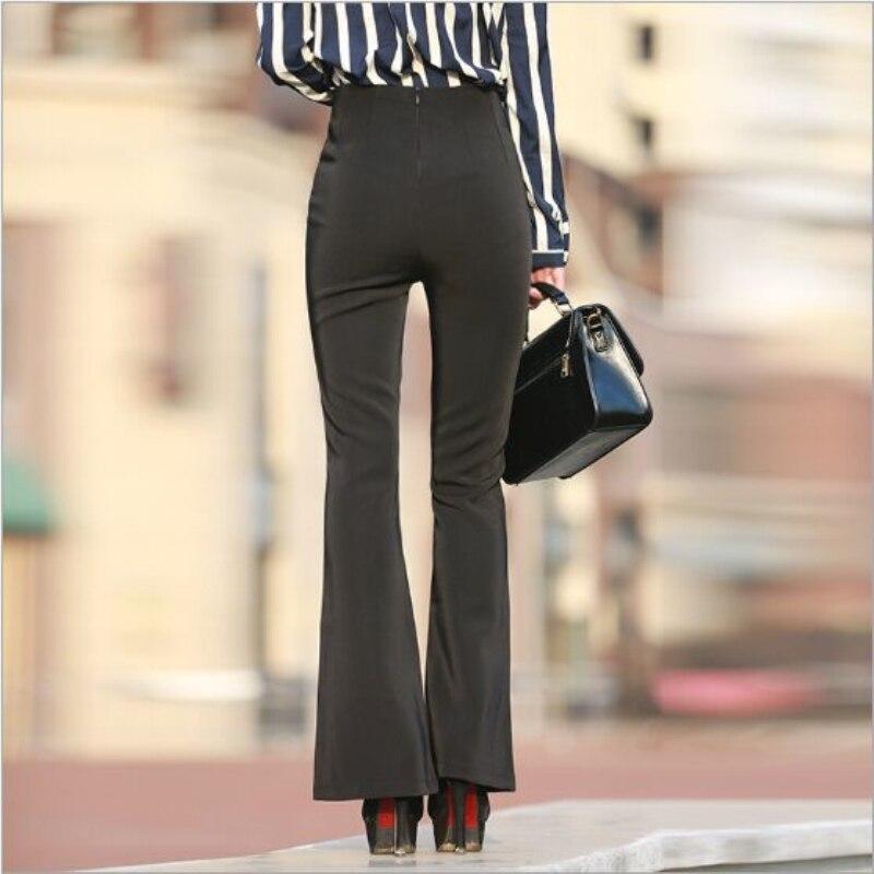 Pour Pantalon Était D'éléphant Nouveau Pantalons Mince Femmes Élégant Spéciale Noir Black Automne Pattes Taille 2019 Haute Ol Mode Bureau Offre Slim wXaxY7Y