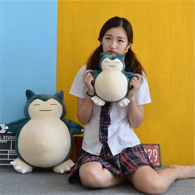 Anime Pokemon Snorlax Cosplay Props Toys Pillow Soft Cotton Kawaii Plush Doll 30cm 50cm Height Kids Child Teens Girls Collection 5