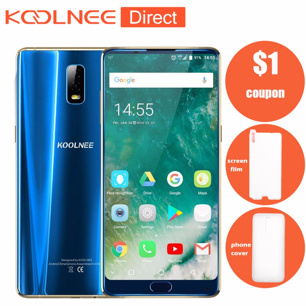 Koolnee K1 Trio Android 7.1 Global Version Smartphone MT6763 Octa-core 6GB RAM 128GB ROM 4200mAh 6.01