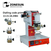 ZONESUN ZY-RM2-DP Pneumatic Dialling code printer Dial coding machine Automatic Stamping Machine leather LOGO Creasing machine