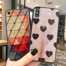 Love heart  diamond shape mobile phone funda cover For Apple iPhone X XS MAX 8 plus 7 6s XR 6 Cases