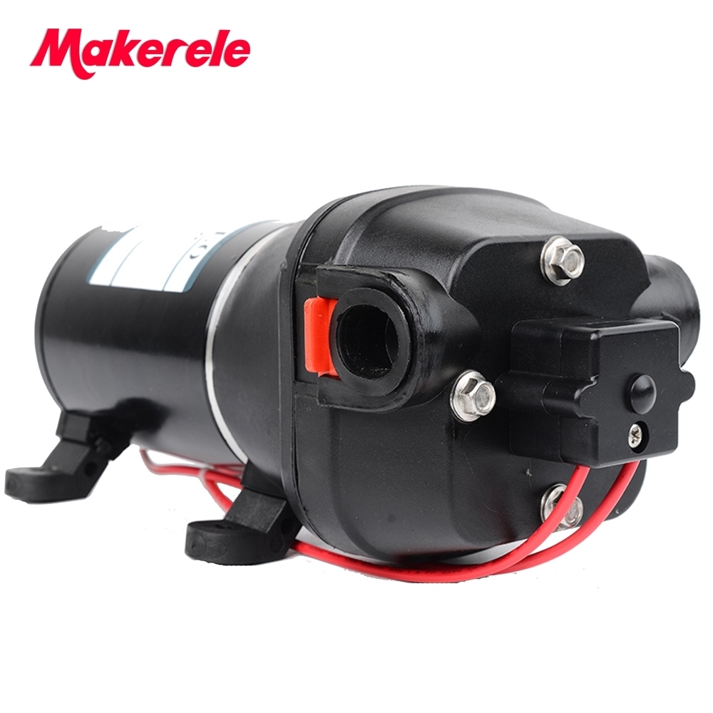 12/24V Self-priming Diaphragm Pump 100PSI Permanent Magnet Intermittent Duty Thermal Protector For Yacht/Automotive 60m Lift 0 75kw self priming water pump for high rise wells in the river lake 220v household jet garden pump 4 5m3 h big capacity
