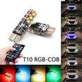 Niscarda 2x T10 W5W RGB светодиодный светильник с дистанционным управлением COB-18 силиконовый корпус стробоскоп автоматическая лампа для чтения автом...