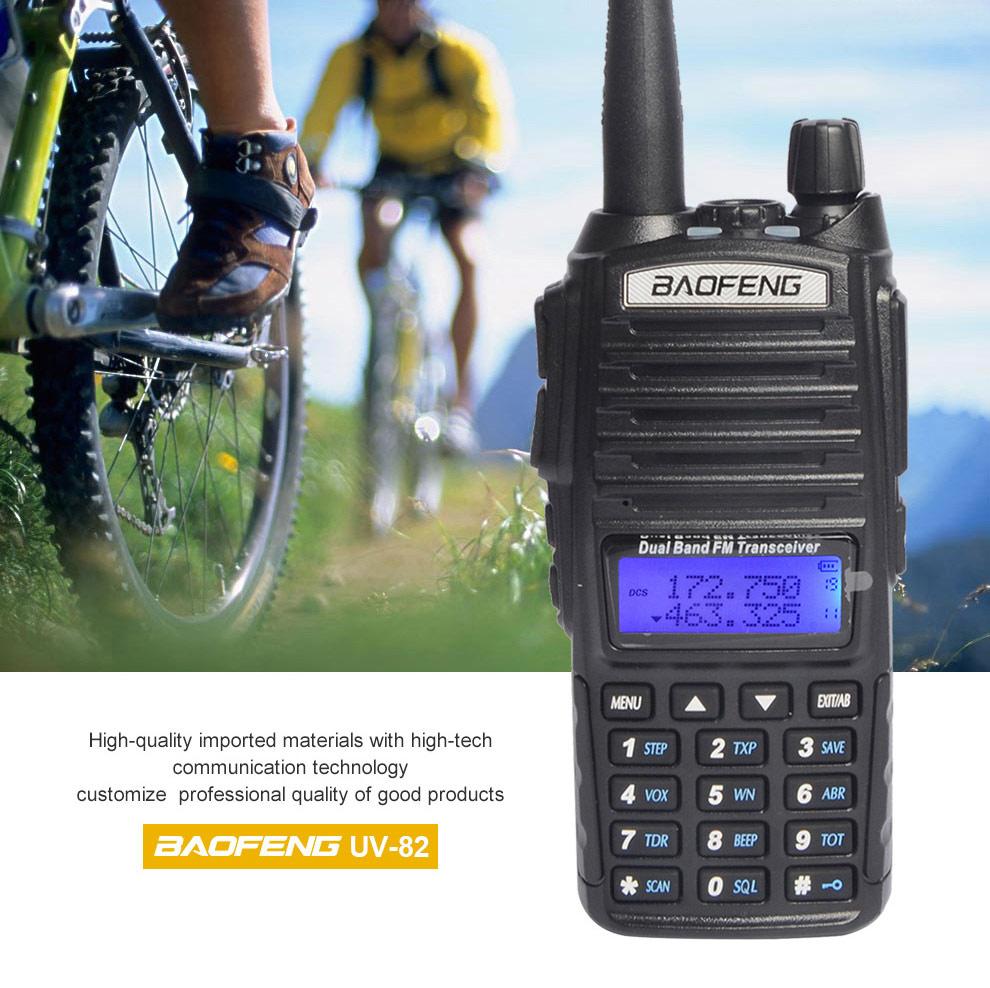 BF UV 82 ραδιόφωνο φορητού ραδιοφώνου διπλής ζώνης UHF VHF 5w μπαταρία 2800mAh ισχυρό ζαμπόν CB ραδιόφωνο UV 82 baofeng ραδιόφωνο