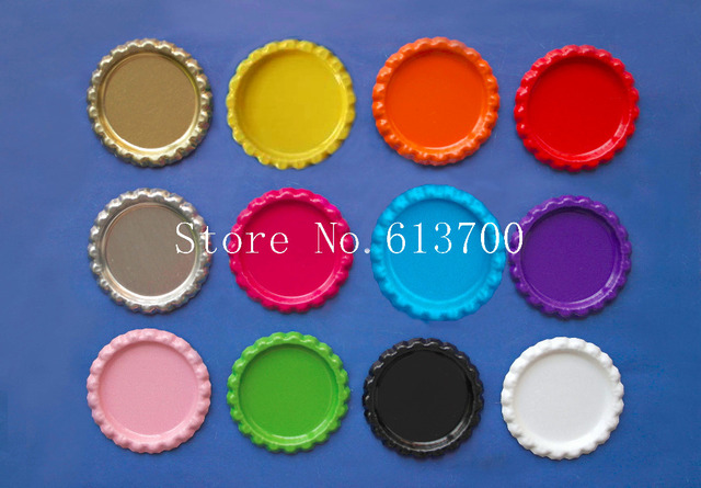 Wlesale 1111 pcs both side colored bottlecaps 11 inch Flattened ...