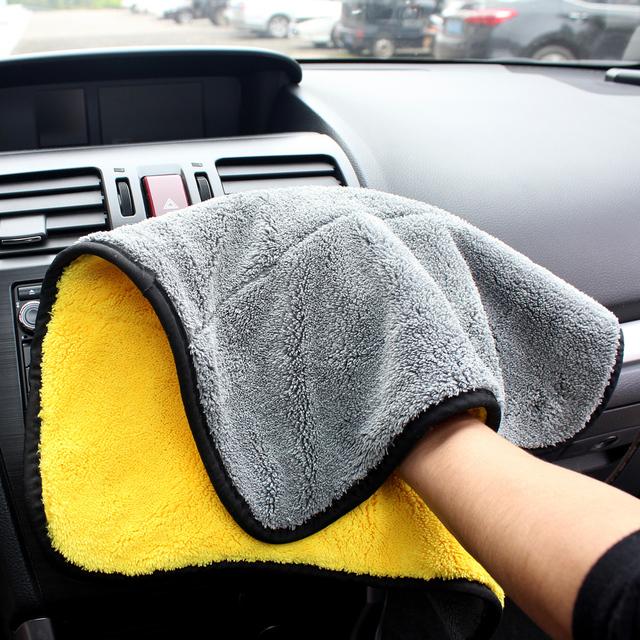 Extra Soft 30*30CM Car Wash Microfiber Towel Car Cleaning Drying Cloth Car Care Cloth Detailing Car Wash Towel Never Scratch