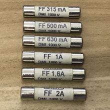 Быстродействующий Ультра быстрый Керамика предохранитель временно не FF315mA 0.315A FF500mA 0.5A FF630mA 0.63A FF1A 1A FF1.6A 1.6A FF2A 2A 1000V 6,3x32 мм