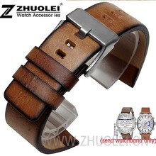 37f093cb3c9 22mm 24mm 26mm Watchband for Diesel DZ7374 watch High Quality Retro Brown Genuine  Leather Strap Bracelets