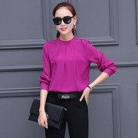 2018 Blusas Mujer White Office Blouse Top Women Blouses Long Sleeve Shirt Women Tops Camisas Femininas