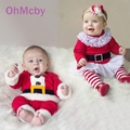2016 New Christmas Dress and Pant Suit  Girl's Long Sleeve Merry Christmas Sets Fashion Baby kids Boys Christmas Clothes