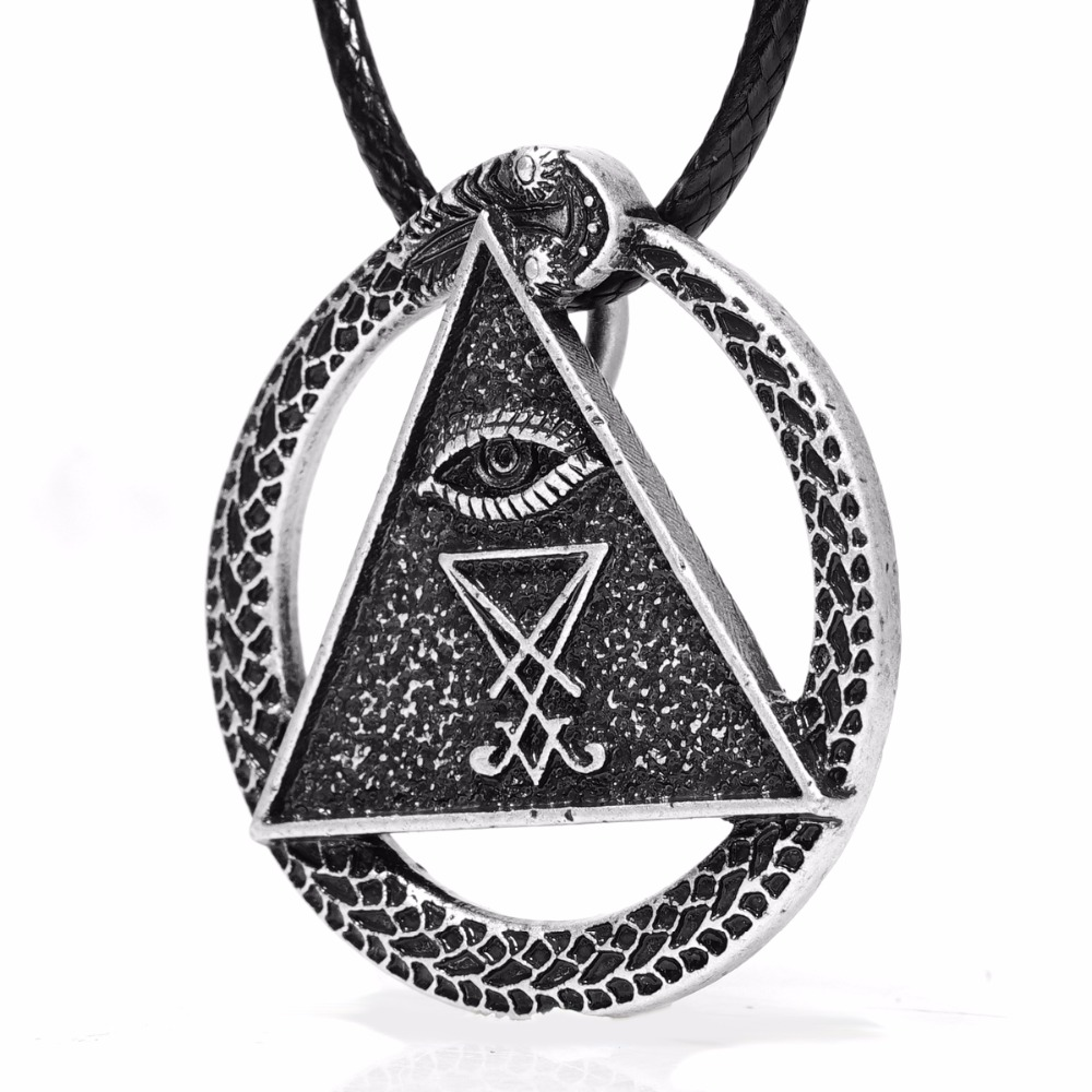 Sigil of lucifer necklace all seing eye amulet snake necklaces sigil of lucifer necklace all seing eye amulet snake necklaces pendants pagan wiccan talisman church of satan charm lead free in pendants from jewelry mozeypictures Choice Image