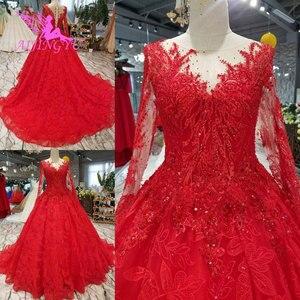 Image 2 - AIJINGYU robe de mariée liban magnifiques robes vendre de luxe dentelle Boho robe robes de mariée