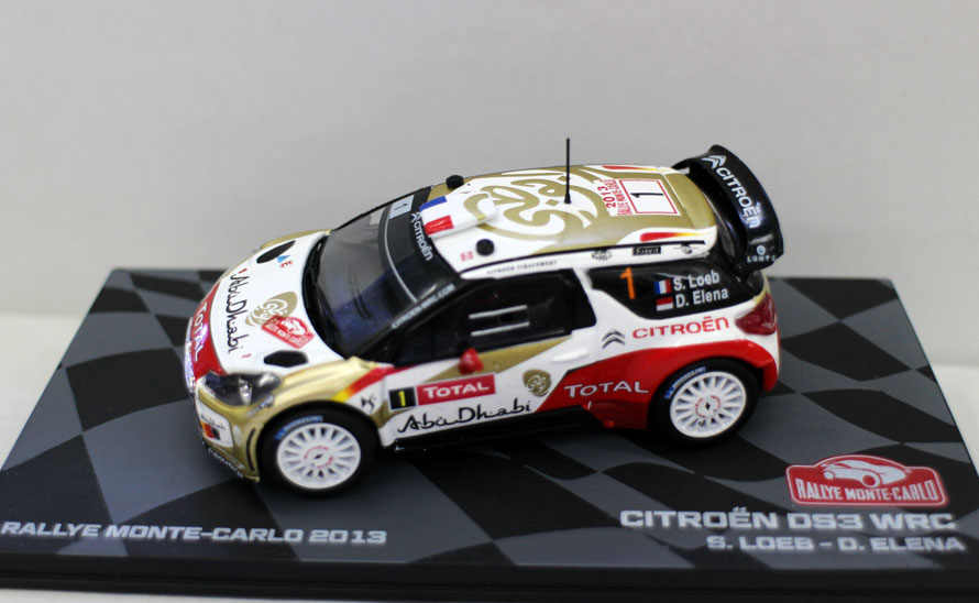 Original factory 1:43 CITROEN DS3 WRC 2013 boutique alloy car toys for children kids toys Model gift original box