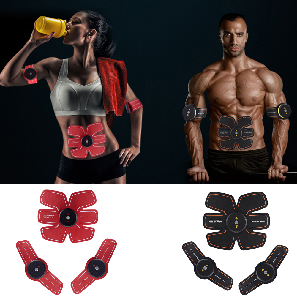 Rechargeable Electric Smart EMS Trainer Abdominal Muscle ABS Stimulator Exerciser Muscles Intensive Training Fitness Slimming