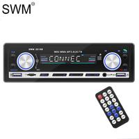 SWM Car MP3 Player Fast Charge Multimedia Autostereo Radio Coche Sd Mic Fm Bluetooth Dual Usb Car Audio Stereo Radio Autoradio