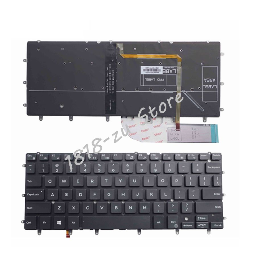 YALUZU US Backlit Laptop Keyboard For DELL Inspiron XPS 13 7000 7347 7348 7352 7353 7359 15 7547 7548 9343 9360 N7548 P54G P57G