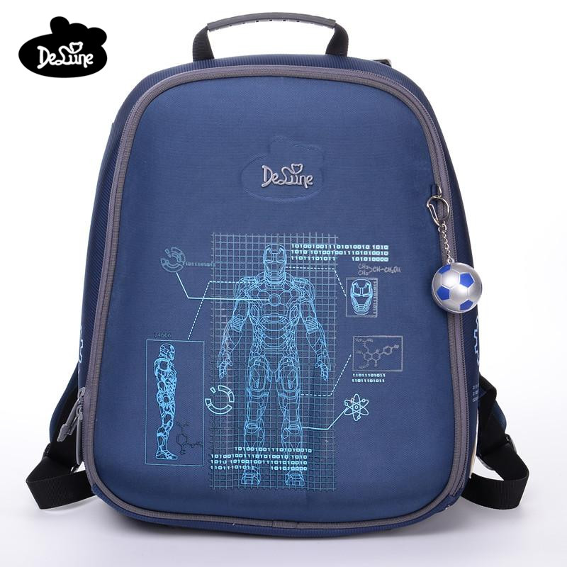 474cca8fbb Delune Brand Quality Kids Cartoon School bags Motorcycle Floral Pattern Children  School Backpack for Boys 3D