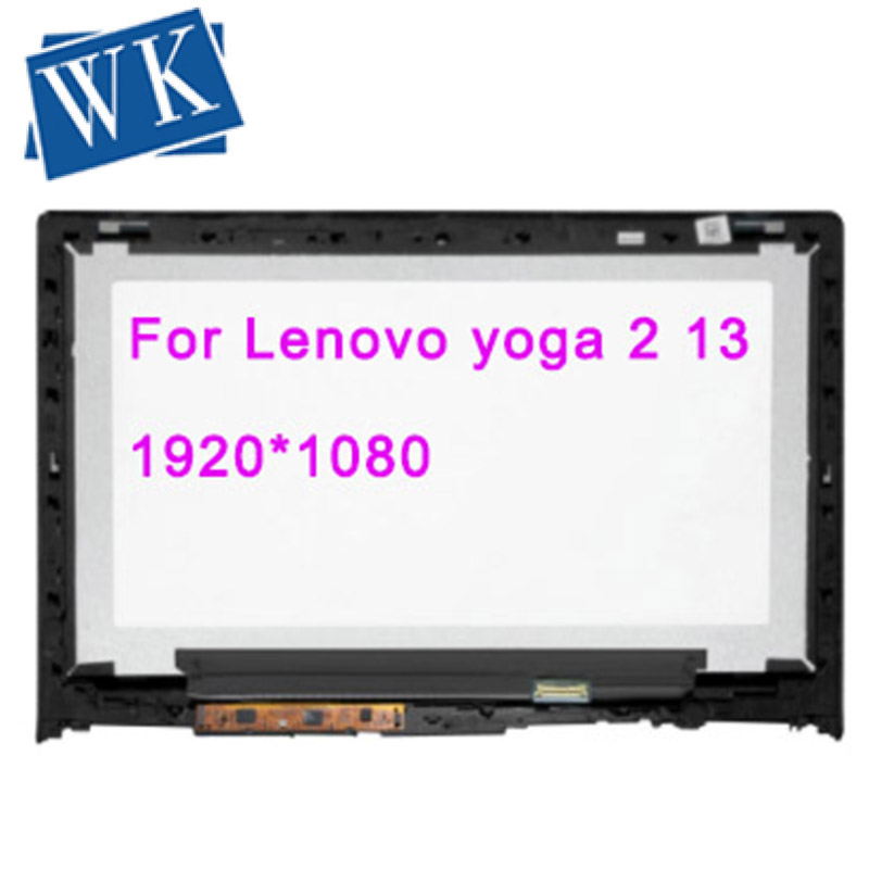 Free Shipping LCD Assembly For Lenovo yoga 2 13 lcd touch screen digitizer replacement assembly B133HAN02.0 LP133WF2 SPA1 image