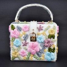 Neue Mode band Appliques Frauen Handtaschen Luxus Satin Blumen umhängetaschen PU Flap Tragetaschen Dame Festgeldbörse Kupplungen Z8180