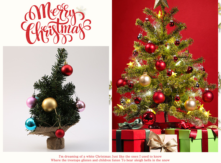 Pcs bucket cm christmas ball christmas tree decoration for home
