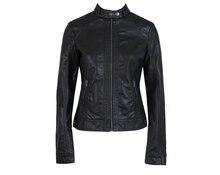 Женская Кожаная Куртка Pimkie ПУ Кожаная Куртка Мотоцикла моды Куртка Slim Women'Soft Кожа Большой Размер XS-XXXL