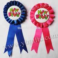 20PCS LOT 7 2cm 2 8 Inch 2 Color Happy Birthday Brooch Badge Fashion Pins Birthday