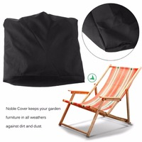 Larger Size Waterproof Beach Chair Case 420D Oxford Polyester Black Chair Cover Dustproof Dirtproof Beach Chair Cover