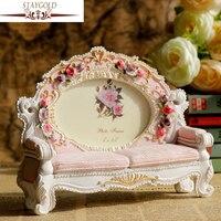 Staygold Розовый Смола фото Изделия из смолы украшения дома диван Форма Рамки 20*5.5*16 см Enfeites Para Casa