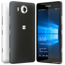 100% оригинал microsoft lumia 950 20mp камера nfc quad-core 32 ГБ rom 3 ГБ ram мобильный телефон lte fdd 4 г 5.2 «2560×1440 пикселей