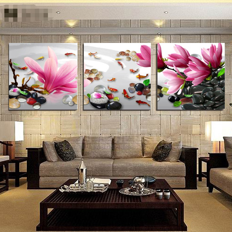 No Frame 3 Pieces Wall Art Home Decor Flowers Cheap Modern Paintings Print  On Canvas Oil