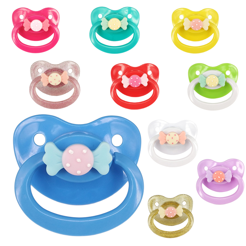 DDLG Adult Baby Large Size Pacifier Girl Customized Candy Pattern Silicone ABDL Adult Pacifier BPA Free