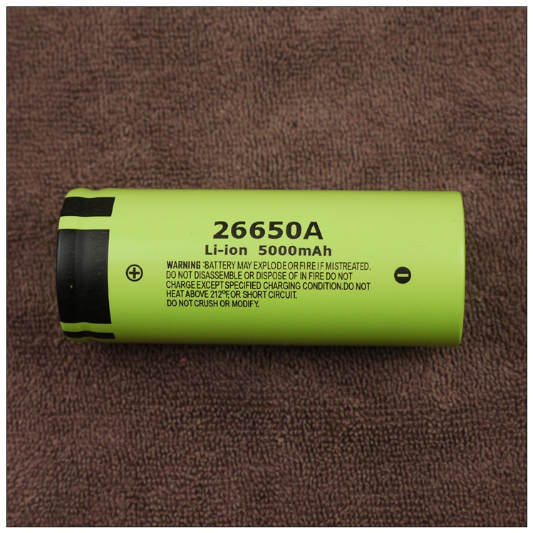 New Genuine Panasonic <font><b>26650A</b></font> 3.7V 5000mAh High Capacity 26650 Li-ion Battery Rechargeable Batteries Free Shipping image