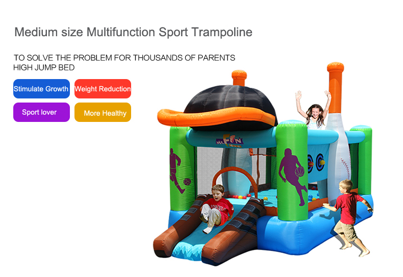 HTB1Z4l0SXXXXXcgXpXXq6xXFXXXk - Mr. Fun Kids Inflatable Sports Bounce House Trampoline with Blower