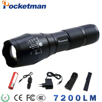 LED Flashlight CREE XM L2 5000LM Zoomable Flashlight Light Torch Lanterna Zaklamp Rechargeable 18650 Charger Lampe