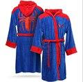 Spider Man albornoz de Coral polar albornoces aumentar alargar suave el nuevo chándal envío gratis