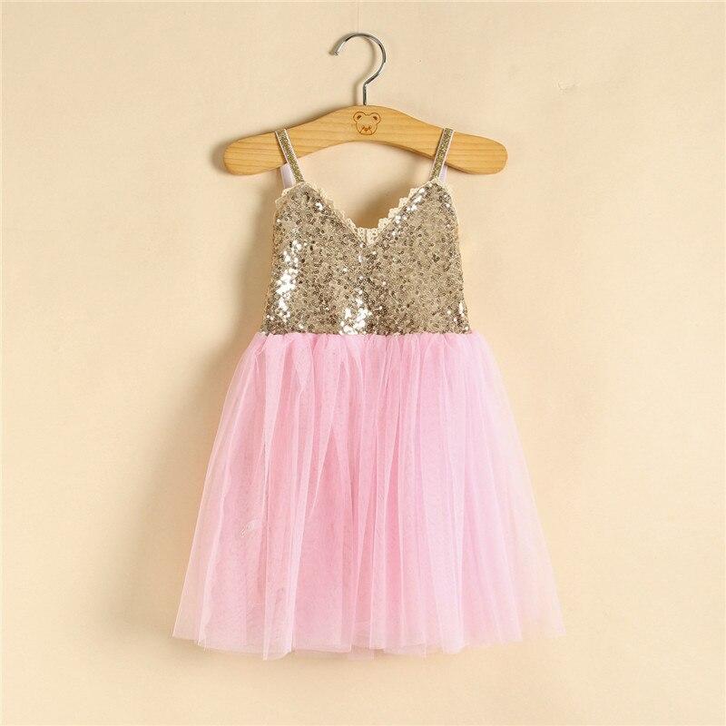 d247d30845d9 Christmas Kids Girls Tulle Lace Sequins Dresses Baby Girl Summer ...