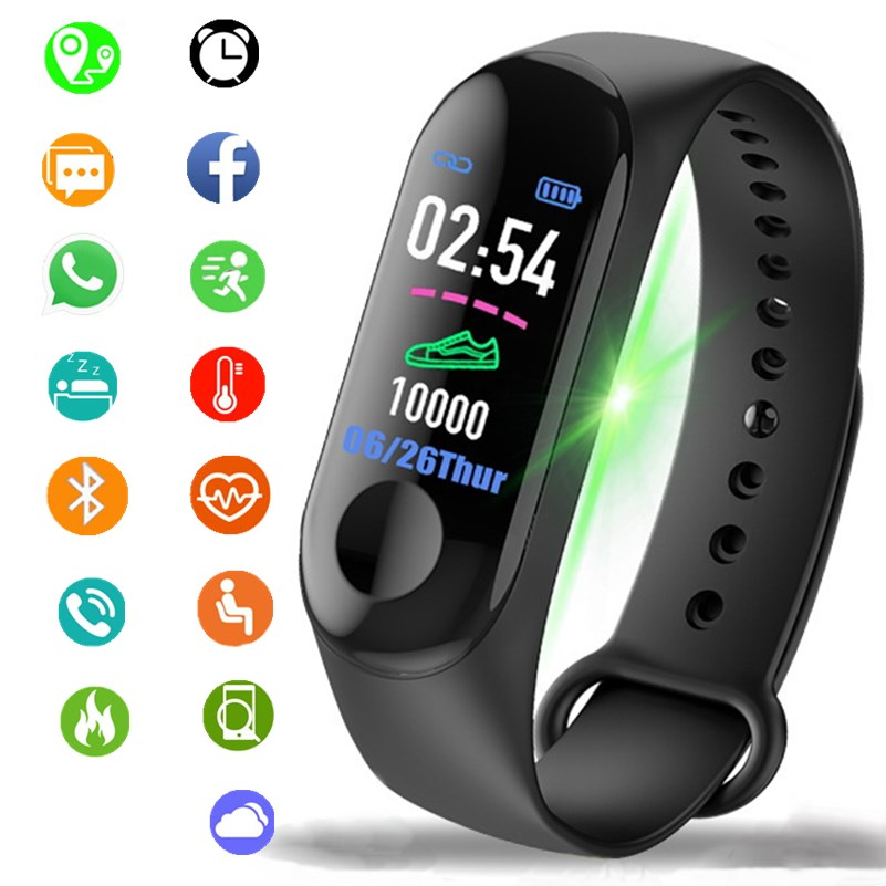 Men Women Smart Watches Sport Fitness Watch Color screen Waterproof Blood Pressure Monitor Heart Rate Monitoring for IOS Android-in Digital Watches from Watches on Aliexpress.com | Alibaba Group