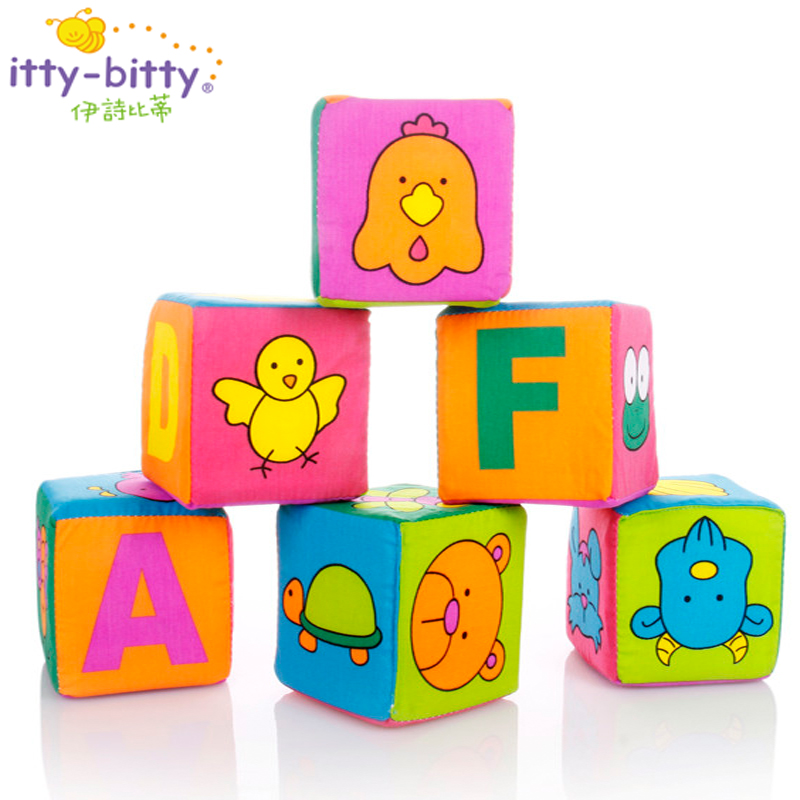 Soft Blocks Toys Montessori Cloth Fabric Stuffed Plush Cube Educational Toy Baby Birthing Gift  Soft Fabric Stuffed Animals Toys