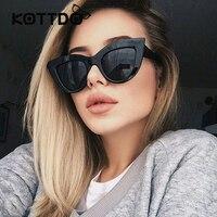 Rose Gold Cat Eye Sunglasses For Women Pink Mirror Shades Female Sun Glasses Black White Coating Cateye Aviation Oculos 2017