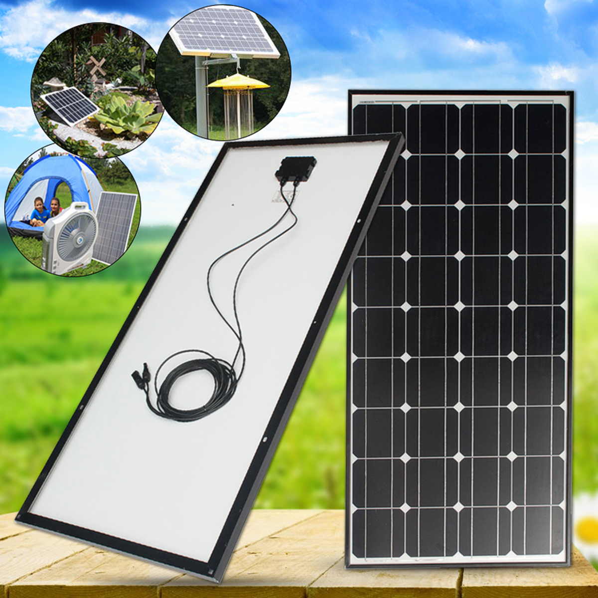 LEORY 100W Solar Panel 18V 100W Solar Charger For Car Battery 12V Battery Charger Monocrystalline Cells Module Kit