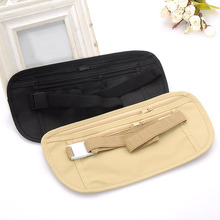 50PCS / LOT Womens Waist Pack Casual Traveling Storage Double Zipper Thin Bag Black Khaki Red