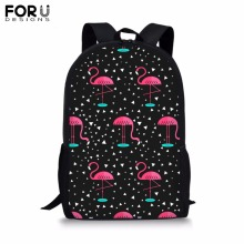 FORUDESIGNS Customize Backpack for Teenager Girls Boy Printing School Bag Childrens BookBag Daypack Mochila Dropshipping