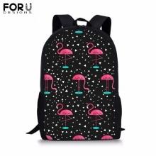 FORUDESIGNS Customize Backpack for Teenager Girls Boy Printing School Bag Childrens BookBag Daypack Mochila Dropshipping
