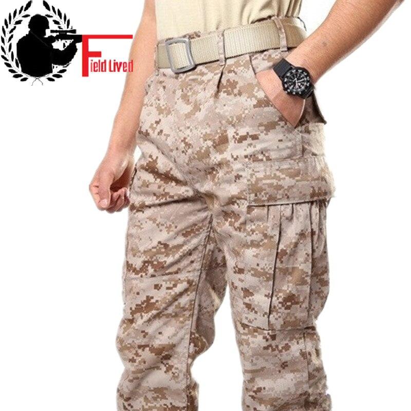 Hommes désert militaire armée Combat tactique pantalon Camouflage Camo fatigue cargo pantalon militaire hommes maikul789