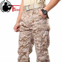メンズ砂漠軍事陸軍戦闘戦術パンツ迷彩迷彩疲労貨物ズボンミリタリーパンツ男性 maikul789